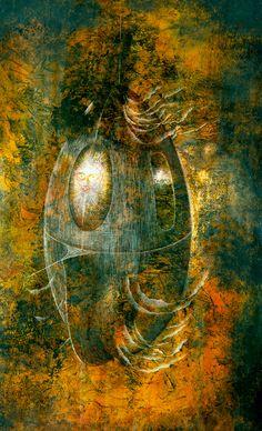1960 NAVE ASTRAL, Remedios Varo Uranga (1908~1963, Spanish-Catalan born Mexican para-surrealist painter and anarchist)