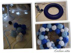 DIY: Sinivalkoiset kranssit! Hanukkah, Crochet Necklace, Kids Rugs, Wreaths, Home Decor, Crochet Collar, Decoration Home, Kid Friendly Rugs, Door Wreaths