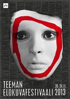 Teema Film Festival 2013 Poster by Kirsi Kukkurainen / YLE Poster Ads, Movie Posters, Main Image, Film Festival, Art Inspo, Lust, Grid, Spaces, Design