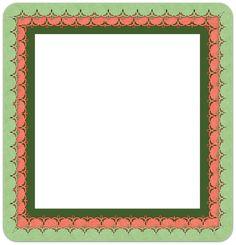 Frame, Side, Scrapbook, Photo Frame, Color, Green