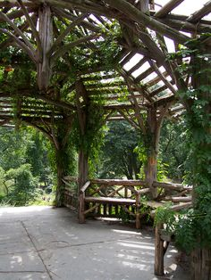 #Central #Park #NYC #wood #shelter #gazebo #hilltop #shade #rendevous #meeting #place #bench #seating