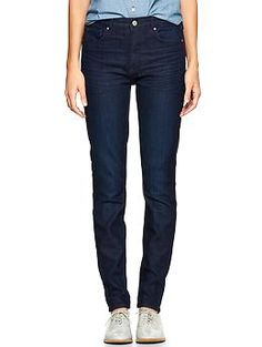 1969 high-rise skinny jeans- love the idea of high rise jeans and a button up collared shirt