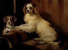 Landseer, Sir Edwin | Bony and Var, c.1843 | High quality art prints, canvases, postcards | Chatsworth Print on Demand