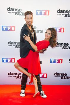 La chanteuse Joyce Jonathan et le danseur Julien Brugel lors de la conférence de presse de lancement de la saison 5 de Danse avec les Stars