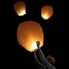 Floating sky lanterns!