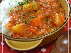 トマトシチュー by HIROマンマ 【クックパッド】 簡単おいしいみんなのレシピが319万品 Thai Red Curry, Soup, Cooking, Ethnic Recipes, Kitchen, Soups, Brewing, Cuisine, Cook