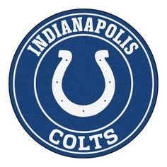 NFL - Indianapolis Colts Roundel Mat diameter Size: diameter Looking for a unique rug to decorate your home or office with? Roundel Mats by Sports Licen Indianapolis Colts, Cincinnati Bengals, Nfl Logo, Nfl Team Logos, Nylon Carpet, Nfl Fans, Round Area Rugs, Nfl Football, American Football