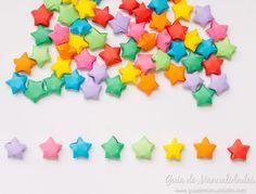Móvil colorido con estrellas de origami - Guía de MANUALIDADES Creative, Kids, Crafts, Art, Cloud Party, Parties Kids, Colors, Craft Art, Children