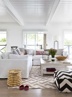 Madeline Weinrib Dove Luce Ikat Pillow via House & Home, photo by Donna Griffith