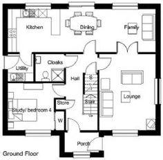 Aberlour - 4 Bed - Kit Homes - Norscot Bungalow Style House, Bungalow Porch, Dormer Bungalow, Bungalow Floor Plans, Bungalow Exterior, Bungalow Extensions, House Extensions, House Extension Plans, Extension Ideas