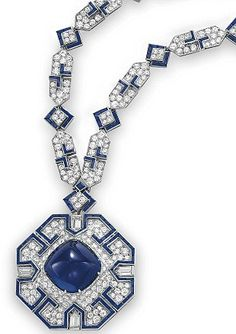 Elizabeth Taylor's sapphire and diamond Sautoir by Bulgari