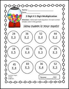 """FREE MATH LESSON - """"2 Digit by 1 Digit Multiplication Freebie"""" - Go to The Best of Teacher Entrepreneurs for this and hundreds of free lessons. 2nd - 5th Grade  #FreeLesson   #Math   http://www.thebestofteacherentrepreneurs.com/2016/04/free-math-lesson-2-digit-by-1-digit.html"""