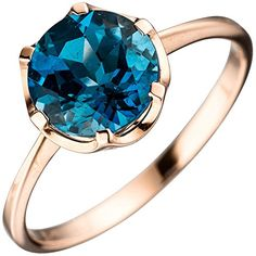 Solitaire ring ladies ring with Blue Topaz Topaz, London blue red gold 585 gold ladies. Blue ring with Blue Topaz London, 585 gold. Show all gold. Show all silver. Show all diamond. Top quality at a fair price for over 10 years. London Blue Topaz, Ring Verlobung, Blue Rings, Topaz Ring, Ring Designs, Sterling Silver Rings, Sapphire, Rings For Men, Pearls