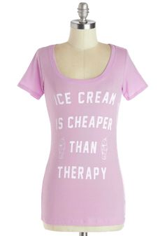 Sweet Talk Tee. Treat yourself to some sugary goodness by indulging in this adorable graphic tee. #purple #modcloth @Emma LeBlanc