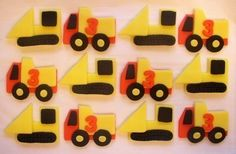Fondant Cupcake Toppers  Construction Vehicles by CakesAndKids, $20.00