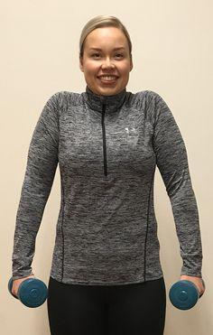 Lihaskuntoharjoittelu on parasta lääkettä sekä pitkäaikaiseen että hetkelliseen niskakipuun. Tässä oiva 4 liikkeen niska-hartiajumppa, jolla pääset alkuun. Athletic, Hoodies, Sports, Sweaters, Jackets, Fashion, Train, Hs Sports, Down Jackets
