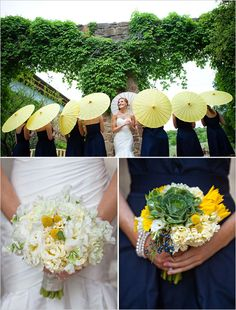 i like the green succulent looking thing :D in the bottom right bouquet....great texture and super fun!