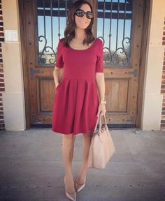 smalltownfancy.com Burgundy dress