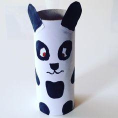 Petit Panda  (qui louche ) en rouleau de papier toilette WC #bricolage #rouleaupq