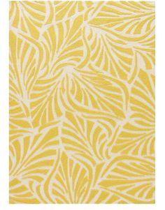 Frond Yellow Indoor Outdoor Rug