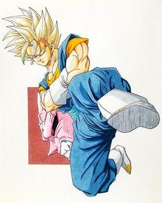 Son Goku, Goku Y Vegeta, Dragon Ball Image, Dragon Ball Gt, Majin Boo Kid, Manga Anime, Dragonball Super, Dbz Drawings, Character Illustration