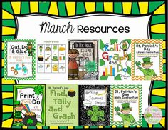 March Resources for math and literacy