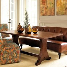 Using A Couch Or Loveseat And Slipcovered Parsons Chairs At The Dining Table