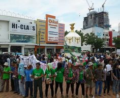 Thai villagers, students in Khon Kaen province rally for freedom and human rights. ขอนแก่น