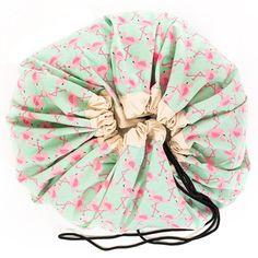 Speelgoedkleed en opbergzak - Flamingo