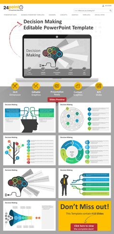 Editable powerpoint template economic indicators business decision making editable powerpoint this 25 slide powerpoint template featuring decisionmaking process is a toneelgroepblik Gallery