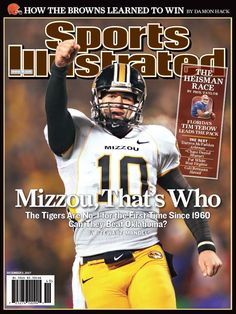 Chase Daniels (MIZZOU) on the cover of SI. I have this hanging in my office!