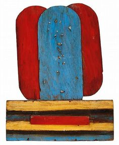 Betty Parsons    Summer Snow, 1978    Oil on wood construction  32 x 24 inches    Anonymous Works