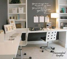Home Office Space, Small Office, Home Office Design, Home Office Decor, Home Design, Office Furniture, Home Decor, Office Designs, Office Spaces