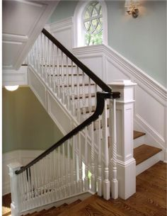 I love the colors for the staircase and handrails
