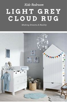 Set the room off to dreamland with this neat cloud rug. Perfect for those little sleeping angels! #ad