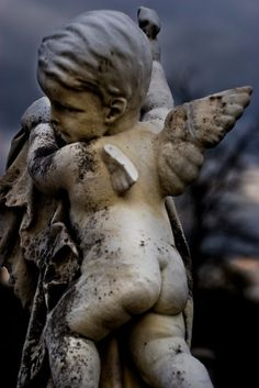 The Historic Oakland Cemetery – atlanta, georgia Cherub with Broken Wing by minerva