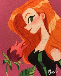 Poison Ivy - Visit to grab an amazing super hero shirt now on sale! Poison Ivy Dc Comics, Poison Ivy Batman, Poison Ivy Cartoon, Harley Queen, Gotham Girls, Bruce Timm, Dc Super Hero Girls, Dc Comics Characters, Fan Art
