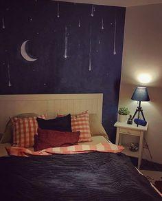 Wandmalerei Schlafzimmer, Do it yourself Sternenhimmel zum träumen, Interior Ideen