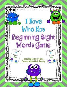 FREEBIE!  I Have Who Has easy sight words