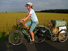 This site offers tips for traveling by bike with your canine companion.