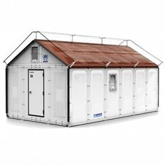 Ikea develops flat-pack  refugee shelters - gaw- add vines and you've a new camouflaged garden shed ...did you know leafy vines act as a natural heat deflector in the summer?