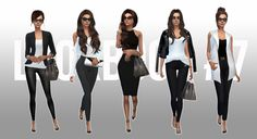 "Victoria Beckham Good day everyone. Since Victoria Beckham is blowing up all over for her ""no heels"" announcement, here's a ""yes heels"" Victoria Beckham lookbook. I'm not very good at making sims,..."