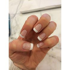 Gel french manicure ❤ liked on Polyvore featuring beauty products, nail care, nails and gel nail care