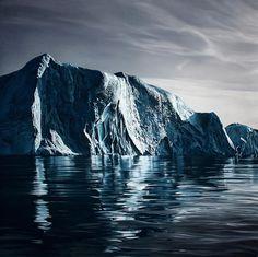 Zaria Forman : Greenland 2012. Beautiful pastel work