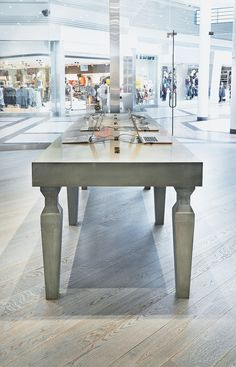Best Concrete Displays Surfaces Images On Pinterest Concrete - Custom made concrete table