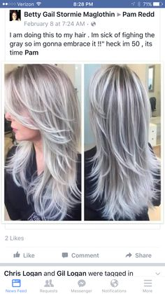 haircut for me i am doing this to my hair im sick of fighing the gray 1895 | 97ee1895fda98ff9498c571426cb5698 long grey hair long silver hair