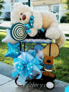 centros de mesa para baby shower niño originales - Buscar con Google