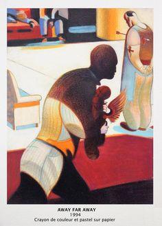Lorenzo MATTOTTI - 6 Déc 2015 au 6 mars 2016 - au Capucins - Landerneau // Pour Mattotti, l'ange symbolise la compassion. Gage d'humanité, son image est libre de toute connotation religieuse. La série comprend entre autres, un projet d'affiche, une illustration, deux dessins réalisés à la suite de The Raven ainsi qu'une série de quatre compositions , intitulé Away Far Away.