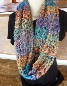 Modernizando o crochê: Gola fácil - variações (crocheted cowl)