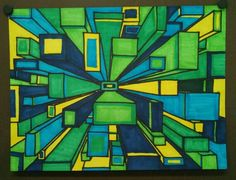 One Point Perspective - 8th grade Art Appreciation with Mrs. Edwards